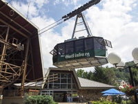 Gatlinburg Aerial Tram in Gatlinburg, TN.