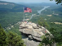 Top of Chimney Rock, NC.