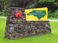 Fun things to do in Hendersonville NC : Holmes Educational State Forest in Hendersonville NC.