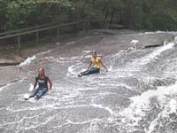 Fun things to do in Hendersonville NC : Sliding Rock in Pisgah Forest NC.