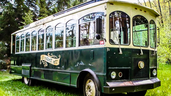 Fun things to do in Hendersonville NC : The Trolley Company in Hendersonville NC.