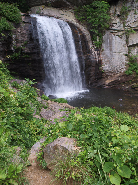 Looking Glass Falls in Pisgah Forest State Park.