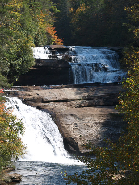 Triple Falls in Dupont Forest State Park,