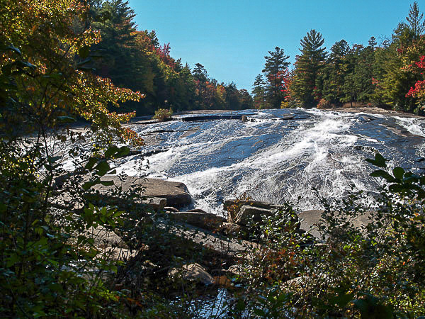 Bridal Veil Falls in Dupont Forest near Hendersonville NC.